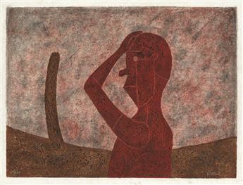 RUFINO TAMAYO Busto en Rojo.