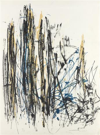 JOAN MITCHELL Arbres (Black, Yellow and Blue).