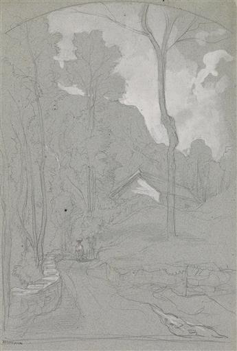 ÉDOUARD BERTIN (Paris 1797-1871 Paris) Two drawings.