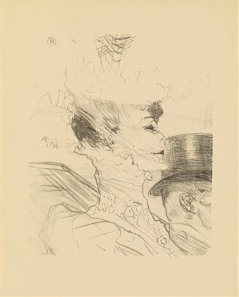 HENRI DE TOULOUSE-LAUTREC (1864-1901). LOUISE BALTHY. 1898. 15x12 inches, 38x12 cm.