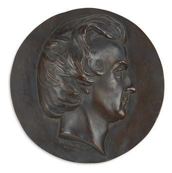 (MISSOURI.) Saunders, Henry D., artist. Profile bust of Senator David Rice Atchison.