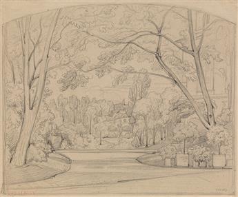 THÉODORE CARUELLE DALIGNY (Saint-Aubin-des-Chaumes 1798-1871 Lyon) Three pencil drawings.