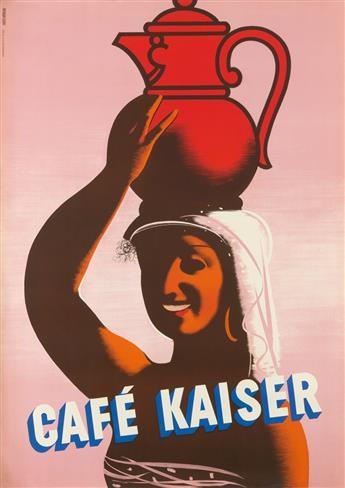 FRITZ BÜHLER (1909-1963). CAFÉ KAISER. 50x35 inches, 127x90 cm. Eidenbenz-Seitz & Co., St. Gallen.