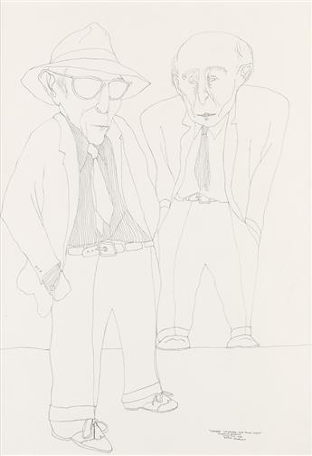 BENNY ANDREWS (1930 - 2006) Portrait of Raphael and Moses Soyer.