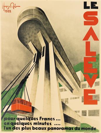 HENRY REB (1883-1959). LE SALEVE. 1932. 62x47 inches, 159x120 cm. Générale, Grenoble.