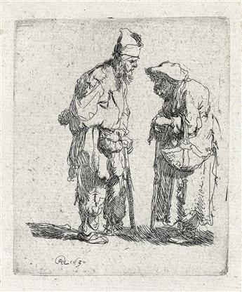 REMBRANDT VAN RIJN Beggar Man and a Beggar Woman Conversing.