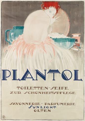 CHARLES LOUPOT (1892-1962). PLANTOL. 1919. 50x35 inches, 128x89 cm. [Säuberlin & Pfeiffer,] Vevey.