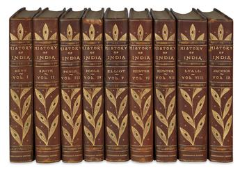 (SETS AND BINDINGS.) Jackson, Abraham Valentine Williams. History of India.