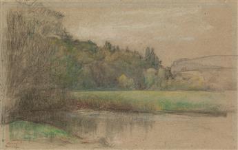 PASCAL DAGNAN-BOUVERET (Paris 1852-1929 Quincey) A Landscape near Quincey, France.