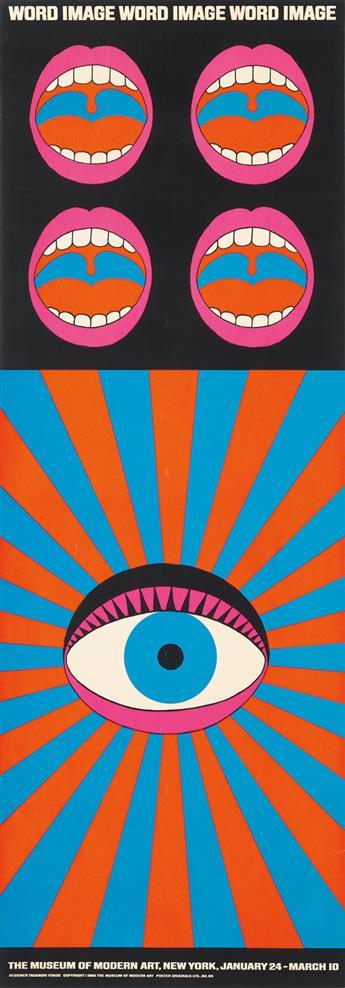 TADANORI YOKOO (1936- ). WORD IMAGE. 1968. 48x17 inches, 123x43 cm. Poster Originals Ltd, [New York.]