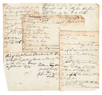 (AMERICAN REVOLUTION--1776.) Leaves from a memorandum book / diary of a Flying Camp officer under Washington.