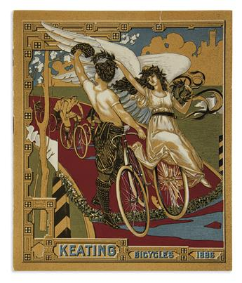 (CYCLING.) Collection of mostly late nineteenth-century American bicycle manufacturers catalogs and pamphlets.