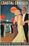 GESSNER (DATES UNKNOWN) GERMAN AFRICAN LINES / COASTAL CRUISES. Circa 1935. 39x25 inches. Förster & Barires.