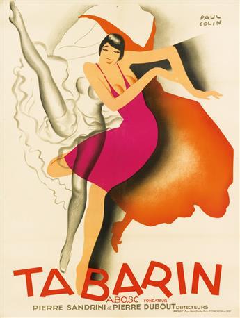 PAUL COLIN (1892-1986). TABARIN. 1928. 62x47 inches, 158x119 cm. H. Chachoin, Paris.