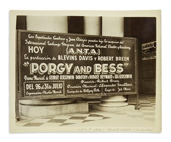 (THEATER.) Papers of theatrical producer Blevins Davis, including his epic touring production of Porgy and Bess.