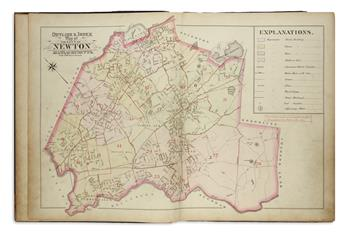 BROMLEY, GEORGE. Atlas of the City of Newton Massachusetts.