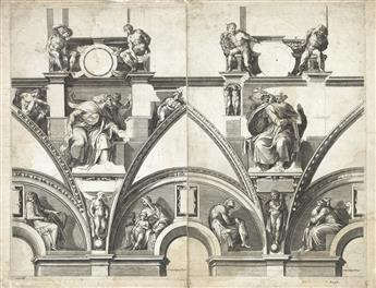 CHERUBINO ALBERTI (after Michelangelo) Group of 4 engravings of Prophets and Sibyls from the Sistine Chapel