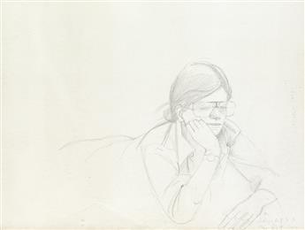 ALEX KATZ Study for Round Hill (Portrait of Elizabeth).