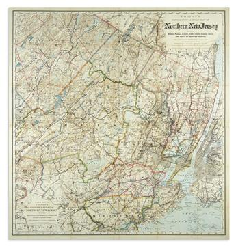 COLTON, G.W. & C.B. Colton's Topographical Road Map of Northern New Jersey.