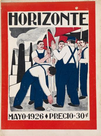 (ARTISTS MAGAZINES / MEXICO / MEXICAN REVOLUTION / STRIDENTISM.) Méndez, Leopoldo; Diego Rivera. Horizonte. Vol 1, Nos 1-4, 6-10.