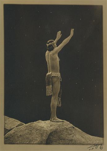 EDWARD S. CURTIS (1868-1952) Prayer to the Stars.