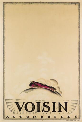 CHARLES LOUPOT (1892-1962). VOISIN AUTOMOBILES. 1923. 47x31 inches, 120x80 cm. Devambez, Paris.