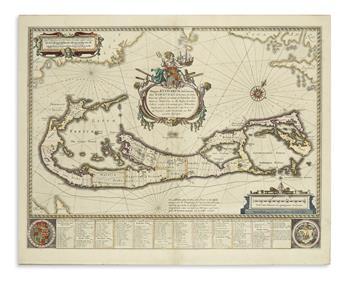 (BERMUDA.) BLAEU, WILLEM. Mappa Aestivarum Insularum, alias Barmudas.