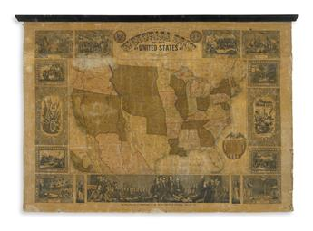 ATWOOD, J.M. for ENSIGN & THAYER. Pictorial Map of the United States.