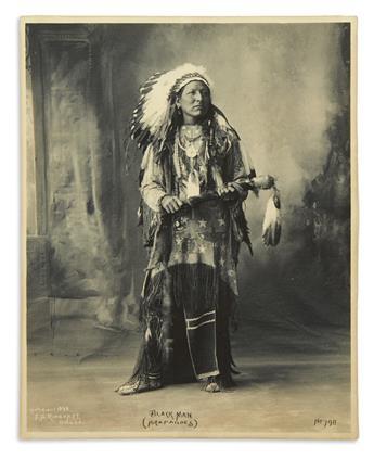 (AMERICAN INDIANS.) Rinehart, Frank. Black Man (Arapahoes).