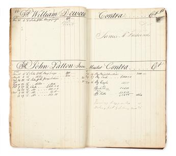 (AMERICAN REVOLUTION--1780.) Ledger of a privateer investor and merchant.