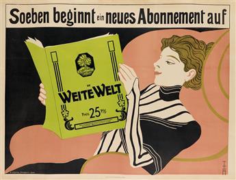 THOMAS THEODOR HEINE (1867-1948). WEITE WELT. 1901. 27x36 inches, 70x92 cm. A. Schuler, Stuttgart.
