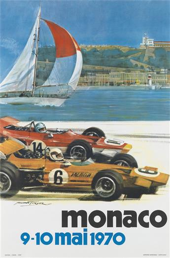 VARIOUS ARTISTS. MONACO. Two posters. 1970 & 1973. Sizes vary.