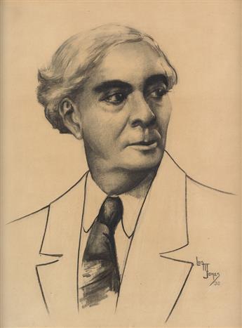 LOÏS MAILOU JONES (1915 - 2012) Portrait of Richard B. Harrison (De Lawd).