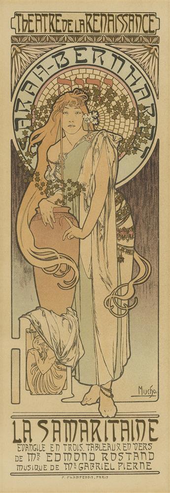 ALPHONSE MUCHA (1860-1939). LA SAMARITAINE. Maîtres de lAffiche pl. 166. 1899. 15x11 inches, 40x28 cm. Chaix, Paris.