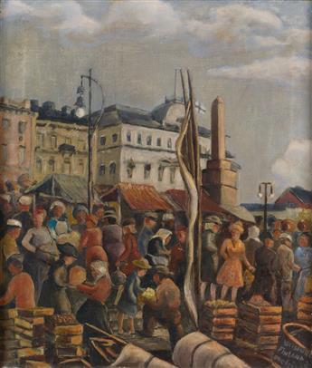 REX GORELEIGH (1902 - 1986) Helsinki-Finland (Market Place).