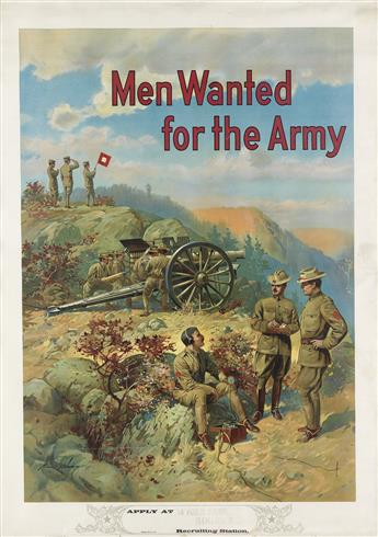 MICHAEL P. WHELAN (DATES UNKNOWN). MEN WANTED FOR THE ARMY. Circa 1910. 40x29 inches, 103x74 cm.