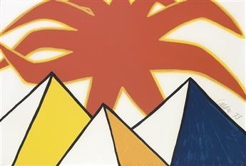 ALEXANDER CALDER Pyramids and Sun.