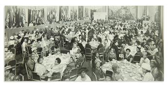 (KING, MARTIN LUTHER.) Photograph of a dinner in honor of Dr. Kings mother Alberta Williams King.
