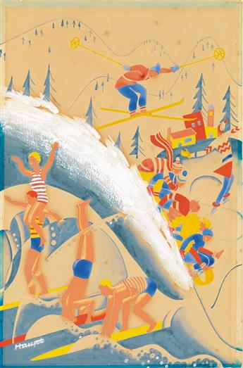(THE NEW YORKER / COVER.) THEODORE HAUPT. Summer and Winter Activities.