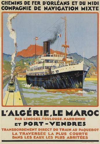BERNARD R. LACHÈVRE (1885-1950). LALGÉRIE, LE MAROC / ET PORT - VENDRES. 1920. 40x27 inches, 101x70 cm. Devambez, Paris.