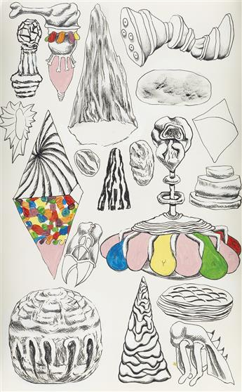 TRENTON DOYLE HANCOCK (1974 -   ) Various Ossi-Units and Good Vegan Detritus #4.