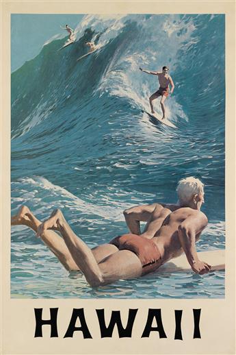 CHARLES ALLEN (1874-?). HAWAII. Circa 1965. 37x25 inches, 96x64 cm.
