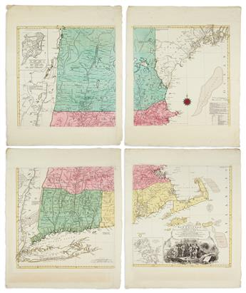 LOTTER, TOBIAS CONRAD; after MEAD, BRADDOCK, alias GREEN, JOHN. A Map of the Most Inhabited Part of New England,
