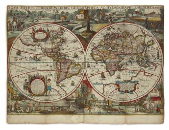 VERBIEST, PIETER. Nova Totius Terrarum Orbis Geographica ac Hydrographi Emendata auct: I : Uerbist.