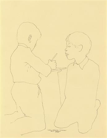 BENNY ANDREWS (1930 - 2006) Chris Drawing Thomas.