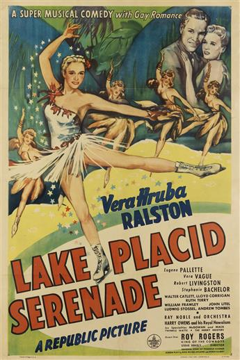 DESIGNER UNKNOWN. LAKE PLACID SERENADE. 1944. 40x27 inches, 102x68 cm. Morgan Litho Corp., Cleveland.