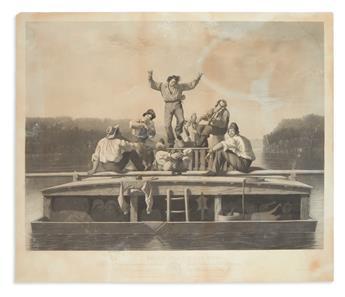 BINGHAM, GEORGE CALEB. The Jolly Flat Boat Men.