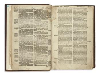 BIBLE IN ENGLISH.  The Byble.  1549.  Lacks all before 1 Kings 21:19, Ecclesiasticus 22:11-31:17, and all after Galatians 4:31.