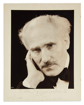 TOSCANINI, ARTURO. Photograph Signed and Inscribed, To Mrs. Constance E. Richardi / Cordially,