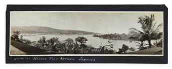 (JAMAICA.) 20 panoramic silver-print photographs of vistas, street scenes and earthquake destruction in Jamaica.